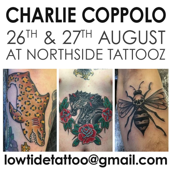 Guest artist CHARLIE COPPOLO 26&27/08/2017