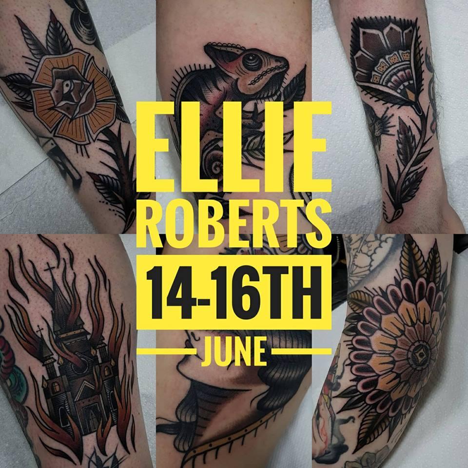 Guest artist: ELLIE ROBERTS 14-16th June 2018