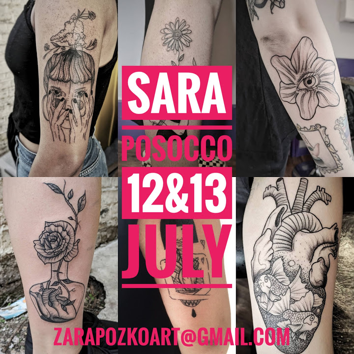 Guest artist: SARA POSOCCO 12 & 13th July 2018