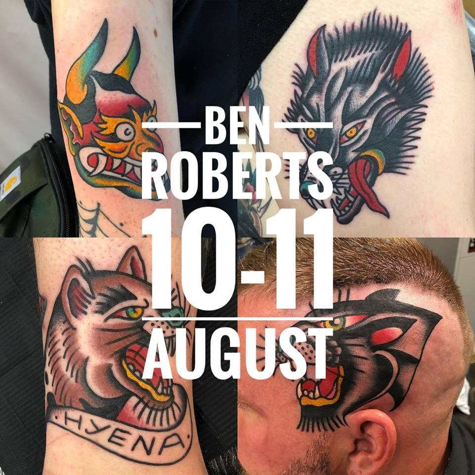 Guest artist: BEN ROBERTS 10-11th August 2018