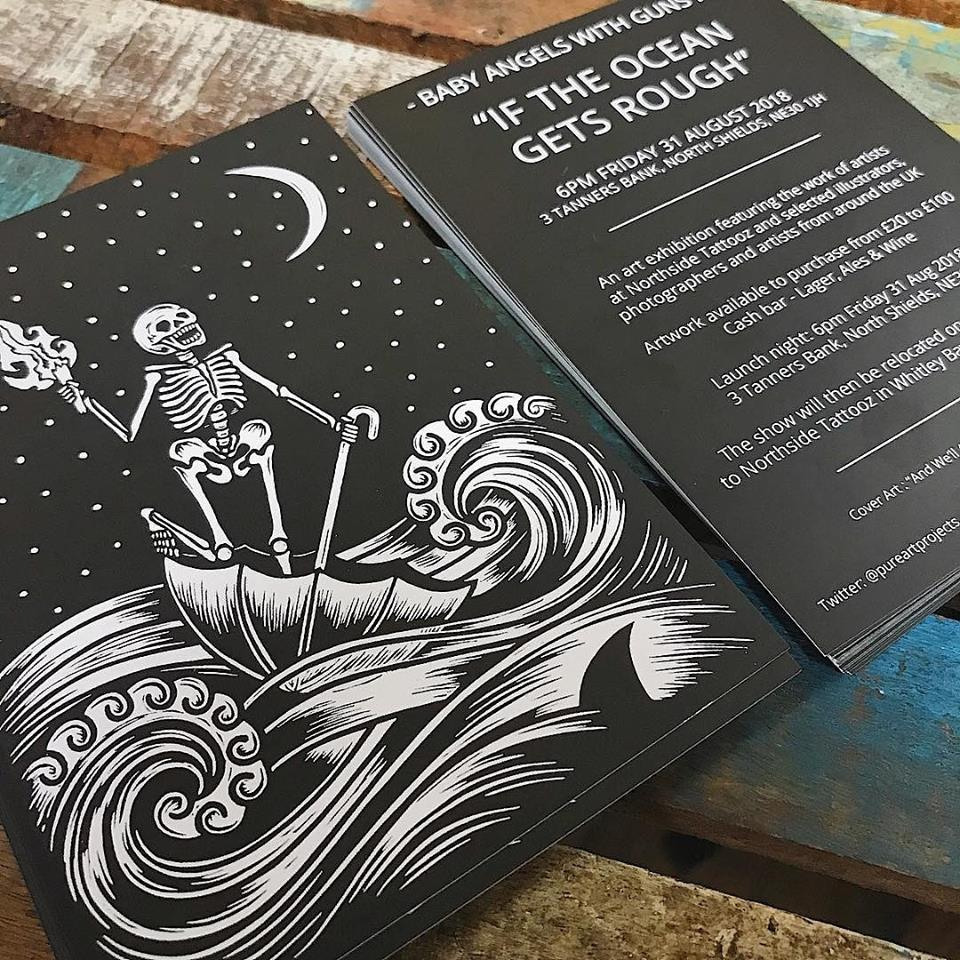 IF THE OCEAN GETS ROUGH – A Northside Tattooz Art Exhibition