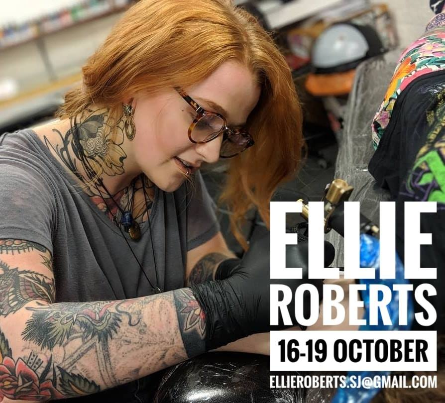 Guest artist: ELLIE ROBERTS 16-19th October 2018