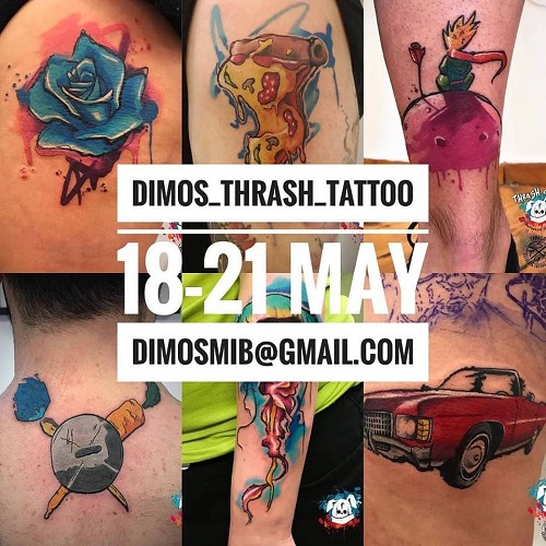 Guest artist: DIMOS TRASH TATTOO 18-21st May 2019